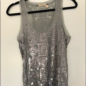 Chelsea & Violet Grey Silver Sequence tank S